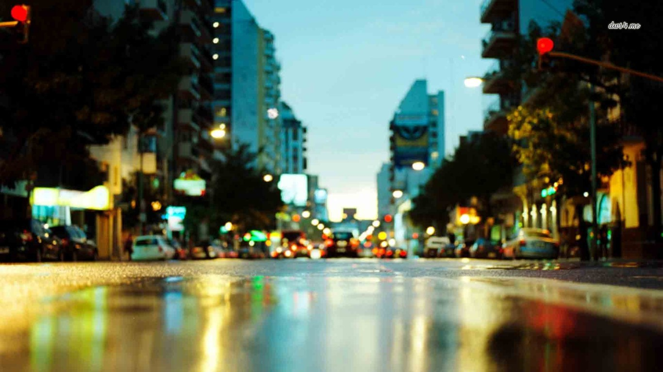 City-Blurry-Road-Photography-Wallpaper